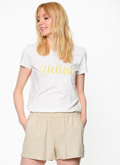 Vero Moda Baskılı Tişört Beyaz